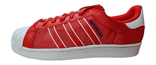 adidas Superstar Gründer, Herren Turnschuhe - rot blau weiß bb5394, UK 7 US 7.5 EU 40 2/3