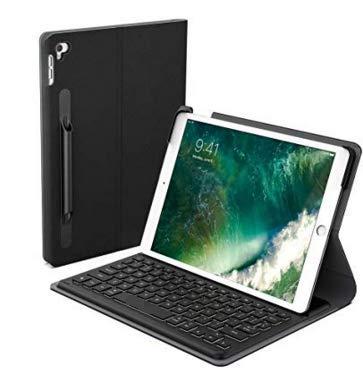 iPad Pro 10.5 キーボードケース dodocool Smart Connector付き手帳型 MFi認証 オートスリープ バックライトキー ショートカット 自動スリープ/スリープ解除 Apple Pencil用の内蔵ホルダー付き ブラック