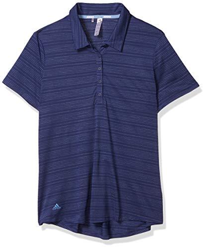 adidas Golf Microdot Polo Shirt, Tech Indigo/Light Blue, Medium