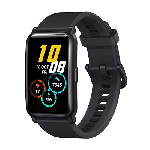 HONOR Watch ES - Smartwatch con 1,64 pollici AMOLED schermo & 10 Giorni In Standby, 5ATM Impermeabile Fitness Tracker con 95 Allenamento Modalità, Meteoriti Nero