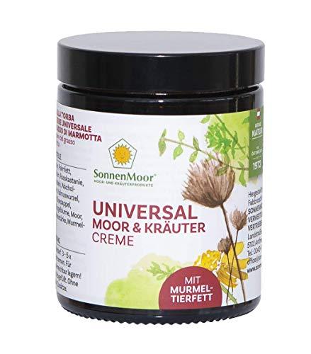 Sonnenmoor Universal Moor und Kräutercreme mit Murmeltierfett - natürliche Murmeltiersalbe zum Einreiben für Haut und Gelenke 140g