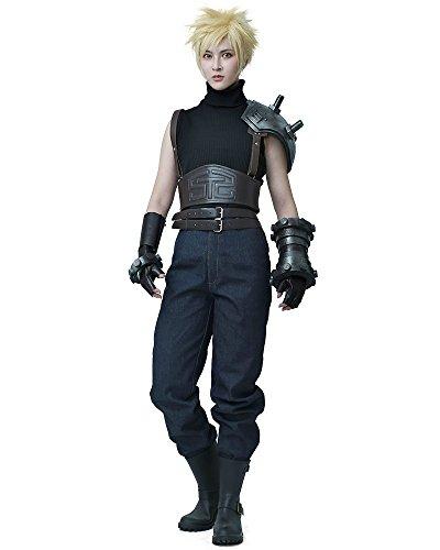 miccostumes Men's Remake Cloud Strife Cosplay Costume MM Black