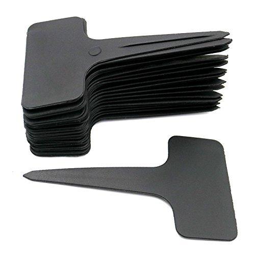 KINGLAKE 100 STK T Typ Plastik Pflanzenschilder Schwarz zum Beschriften Pflanzenstecker Wetterfest Stecketiketten Schwarz Etiketten für Pflanzen