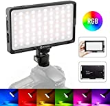 Moman On Camera RGB Light for DSLR, LED Video Light Panel Full Color CRI 96+/TLCI 98+ Bi-Color 2500-8500K Dimmable with Type-C for Photography DSLR Camcorder