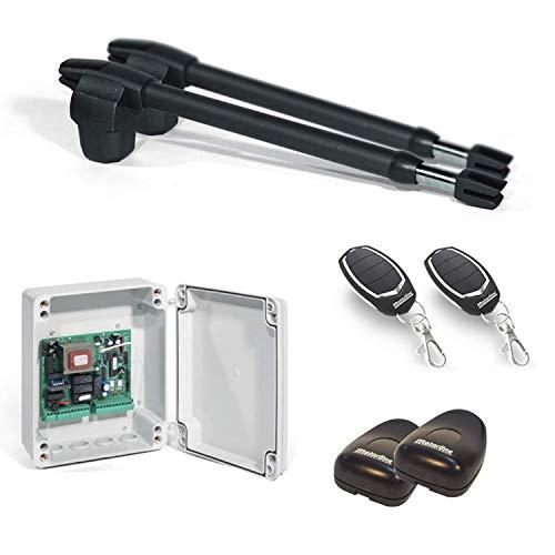 Kit Completo Automatismo Motor Motorline para Puertas Batientes de 2 Hojas – Lince 600-230V / para Puertas de 2 Hojas de hasta 4 Metros Cada Hoja
