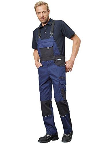 Pionier 9473-56 Latzhose Resist 1', Marineblau/Schwarz, 56