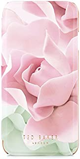 Ted Baker AW16 iPhone 8/7 Case - Luxury Folio Case/Cover in Flower Design for Women with Built-in Interior Mirror for The Apple iPhone 8/7 - KNOWAI - Porcelain Rose - Nude