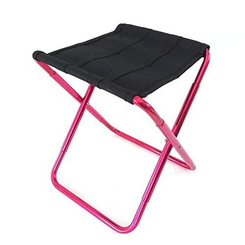 Taburete plegable Luz multifunción portátil de pesca al aire libre silla del ocio taburete del almacenaje de picnic heces de aleación de aluminio Festivales de Camping Jardín Caravan ( Color : Red )