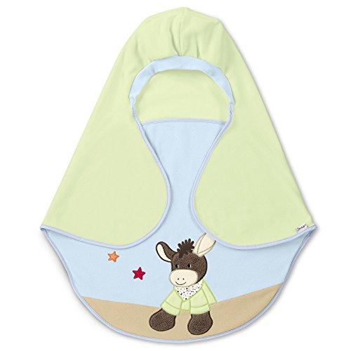 Sterntaler Einschlagdecke Emmi, Alter: Für Babys ab der Geburt, 75 x 90 cm, Grün/Blau