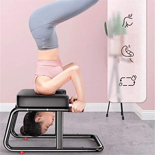 QiHaoHeji Panca di inversione delle feci di Yoga Booster ausiliario invertito a Sgabello ausiliario invertito (Colore : Black, Size : 67x37x44cm)