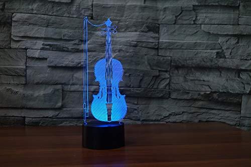 Geige Lighting Decor nachtlampje slaapkamer tafellamp 7 kleuren bedlampje kerst- en verjaardagscadeau voor kinderen LED nachtlampje met afstandsbediening