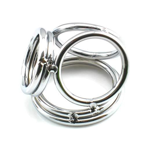 YYBB Edelstahl Huhn Palace Ring-Penis-Penis Hoden-Ring-Metall Séx Bondage Stimulation Alternative Pleasure to Teach Männer und Frauen Slaves T-Shirt, Sunglasses