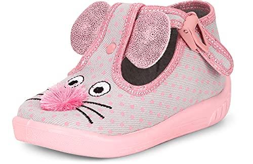 Ladeheid Zapatillas Zapatos Calzado Unisex Niños LARW001 (Gris Ratón, 18 EU)
