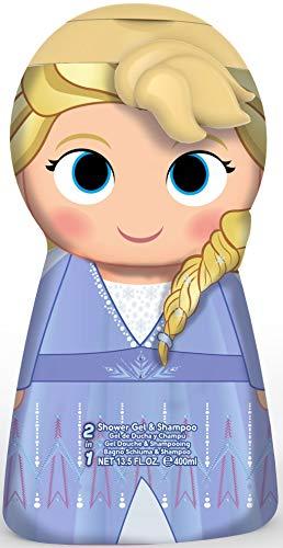 Frozen II 3D Figur Elsa - 2in1 Duschgel & Shampoo mit milder Pflegeformel, 1er Pack, 400ml