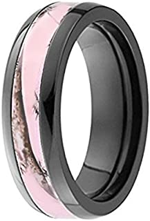 Pink Camo Ring - Pink Camo Band - Engagement Ring - Wedding Rings - Promise Rings for Couples - Camo Wedding Ring - Camo Wedding Rings - Camo Rings for Women