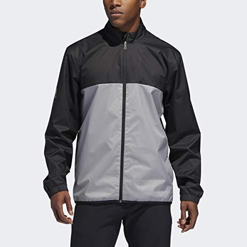 adidas Golf Men's Climatstorm Provisional Rain Jacket, Black, Small