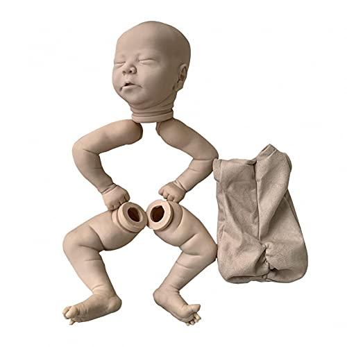 RUIXFLR DIY Reborn Doll Kit De Silicona Suave Realista para Dormir Bebé Muñeca Realista Sin Terminar para Nutrir El Juego, Juguetes De Actividad Preescolar, 21 Pulgadas, As Shown