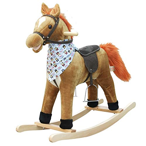 Lowest Price! Baby Rocking Horse Child Rocking Horse Early Childhood Educational Rocking Horse for Child Birthday 3 Colors for Toddlers Girls and Boys Age 1 Year and up