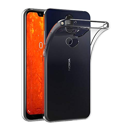 AICEK Hülle Compatible für Nokia 8.1 Transparent Silikon Schutzhülle für Nokia 8.1 Hülle Clear Durchsichtige TPU Bumper Nokia 8.1 Handyhülle (6,18 Zoll)
