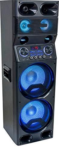 Ibiza TS450 Sound Box System Partystation mit Bluetooth USB SD LED und Fernbedienung Event DJ Bühne Lautsprecher Musik Beschallungsanlage