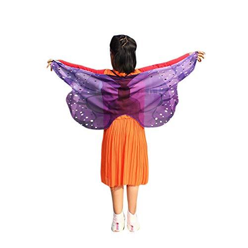 PinkLu PinkLu Mädchen Schal 80 Cm-100 cm Mode Drucken Kleiner Schmetterlingsschal Der Kinder Modeparty FrüHling Und Sommer Neuer HeißEr Schmetterling Schal