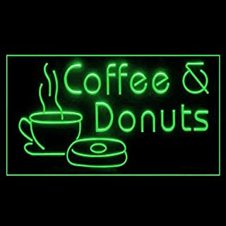 110096 Coffee Donuts Bread Cafe Steamer Kona Display LED Light Sign