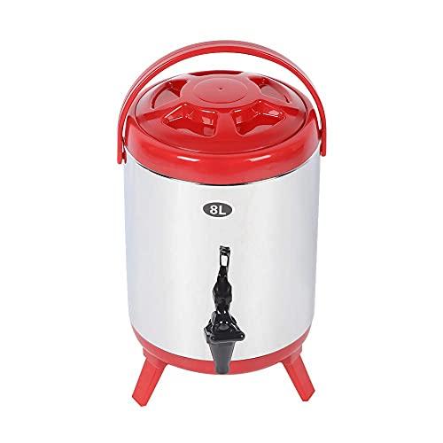 Cubo de té con leche 304 Recipiente de barril de aislamiento de doble capa de acero inoxidable 304 para agua caliente, té con leche, café