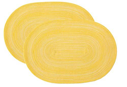 Pichler Tischset Platzset Samba oval 33x48cm Zitrone (2 Stück)