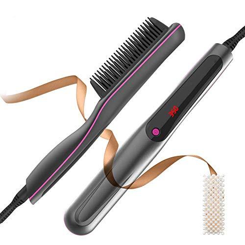 Cepillo Alisador de pelo, Cepillo de Alisador 2 en 1 peine A