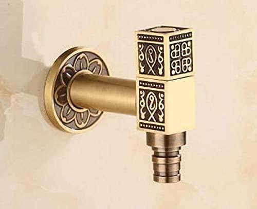 Grifo decorativo para exteriores, grifo para jardín, grifo para lavadora, grifo para fregona