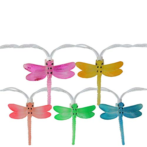 7.25ft White Wire, 10 Set Dragonfly Summer Garden Outdoor Patio Lights