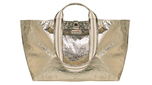 brasi&brasi Tasche Half&Stripe Glitter Gold NEU!!