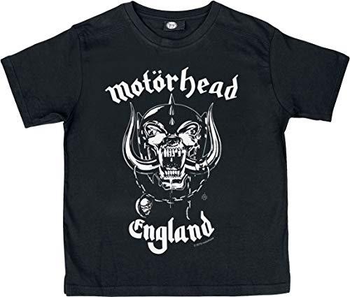 Motörhead England Kids Kinder & Babies T-Shirt schwarz 104