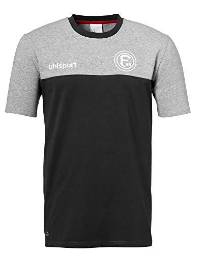 uhlsport Erwachsene F95 T-Shirt Freizeit 19/20 Fortuna, grau Melange/Anthra, M