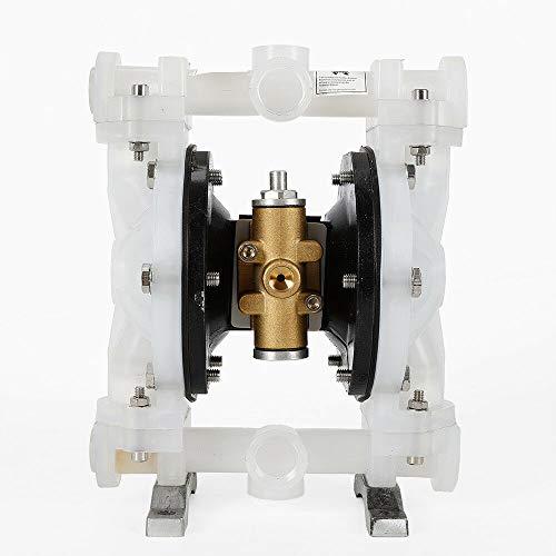 TFCFL Heavy Duty Double Diaphragm Transfer Pump Aluminum Air Operated Pneumatic for Diesel, Grease, Kerosene & Oil 0-1m³/H (264gallon/H) QBY-15PP