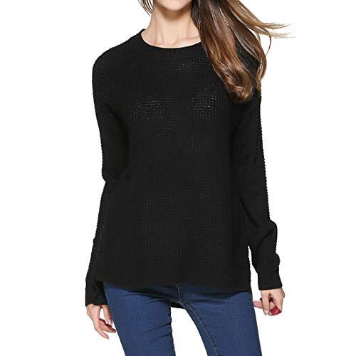 XWLY Pullover Damen Tops Damen Komfortable Lose Lässige Mode Rundhals Ausschnitt...
