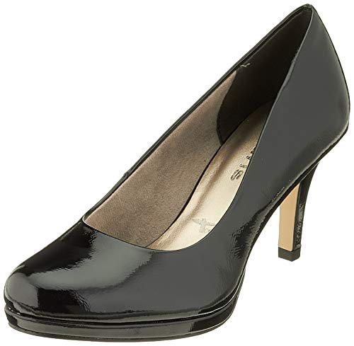 Tamaris Damen 1-1-22444-23 Pumps, Schwarz (Black PATENT 18), 39 EU