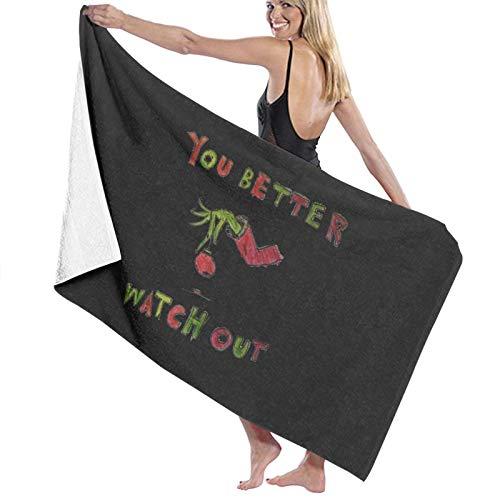 U/K You Better Watch Out - Toalla de baño (secado rápido)