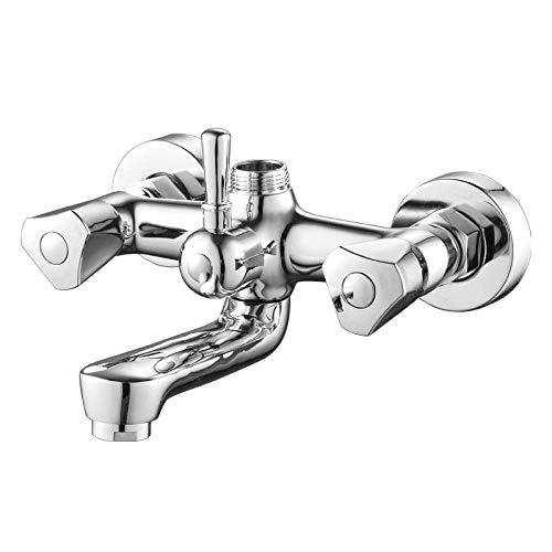 Grifo de ducha de lin grifo de ducha de control doble de doble manija grifo de ducha de latón grifo de ducha chapado