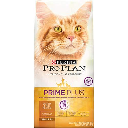 Purina Pro Plan Senior Dry Cat Food, PRIME PLUS Chicken & Rice Formula - 3.2 lb. Bag