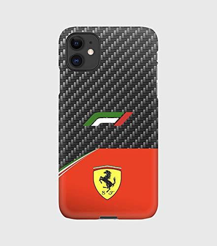 Carbon F1 Ferrari Case for iPhone 12 mini, 12, 12 pro, 12 pro max, 11, 11 Pro, 11 Pro MaxXS, XS Max, XR, X, 8, 8+, 7, 7+, 6S, 6, 6S +, 6+, 5, 5S, 5SE