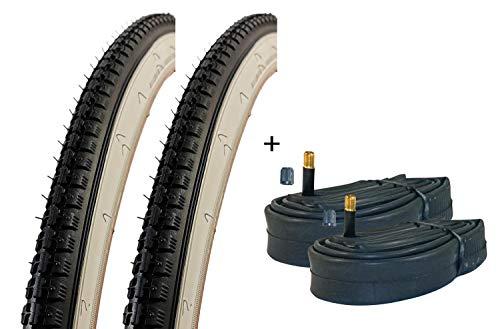 VDP 2X Fahrradreifen Kenda K141 schwarz/weiß Weißwand Reifen Fahrrad 28 Zoll 28x1.50 (40-635) Drahtreifen Schlauch