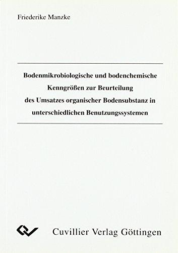 Bodenmikrobiologische und bodenchemische Kenngrößen zur Beurteilung des Umsatzes organischer Bodensubstanz unterschiedlichen Bodennutzungssystemen