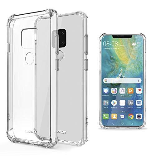 Moozy Funda Silicona Antigolpes para Huawei Mate 20 - Transparente Crystal Clear TPU Case Cover Flexible