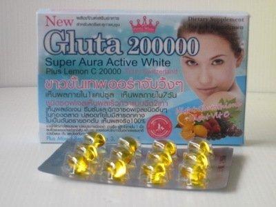 l-glutathione Softgel super Aura Active blanqueamiento Skin