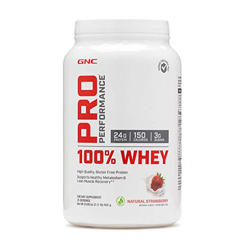 GNC Pro Performance 100 Whey Protein - Natural Strawberry 2.11 lbs.