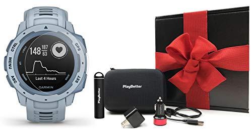 Find Discount Garmin Instinct (Seafoam) Gift Box Bundle | +HD Screen Protectors, PlayBetter Portable...