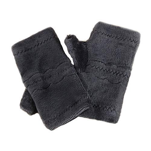 YOUZHA Winter Zachte Polar Fleece Warm Handschoenen Vrouwen Toetsenbord Lek Half Vinger Handschoenen Hand Warmer Wanten Meisjes Wanten