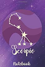 Scorpio Notebook: The Scorpion - October 23-November 21 - Lined 6 x 9-inch size with 120 pages