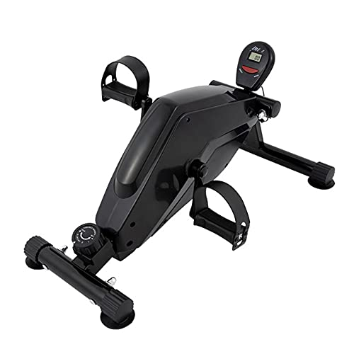Ejercitador Pedales para Debajo del Escritorio, Mini Bicicleta Estática para Piernas/Brazos Mini Equipo Rehabilitación Ciclismo para Discapacitados con Pantalla LCD
